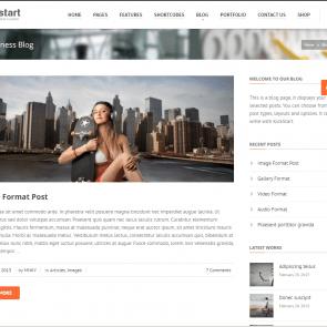 קיקסטארט - תבנית וורדפרס בעברית מעוצבת לקידום מוצר/שירות
