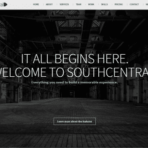 דרום-מרכז - תבנית ייחודית לאתר מקצועי