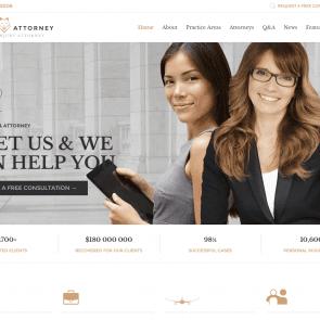 עורך דין פרקליט - תבנית רספונסיבית עבור לשכה משפטית