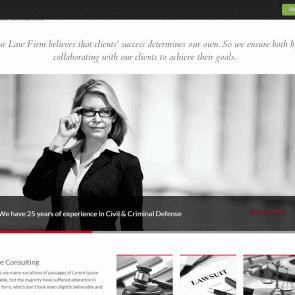 העיסוק - תבנית וורדפרס לעורכי דין
